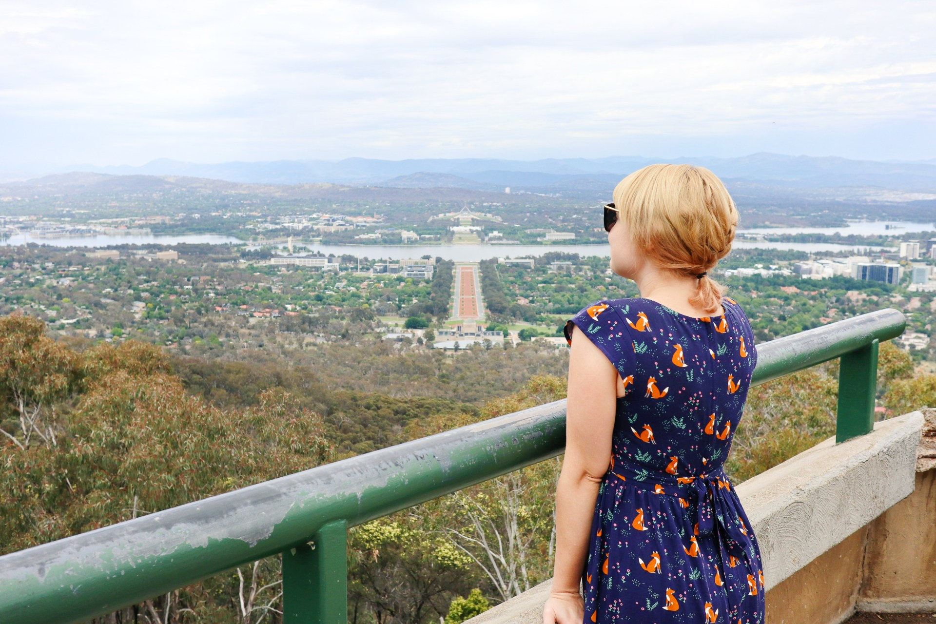 Views over Canberra from Mount Ainslie