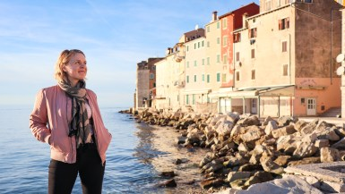Colourful buildings in Rovinj on Croatia's Adriatic coast