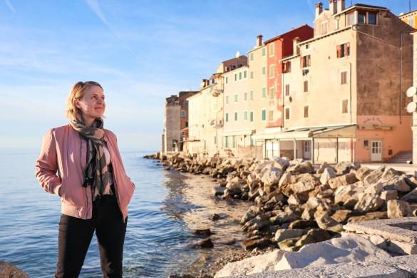 Colourful buildings in Rovinj on Croatia's Adriatic coast