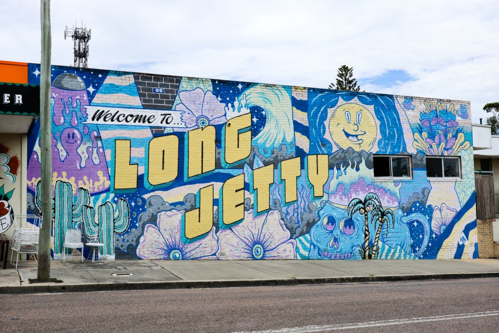Welcome to Long Jetty mural on the NSW Central Coast
