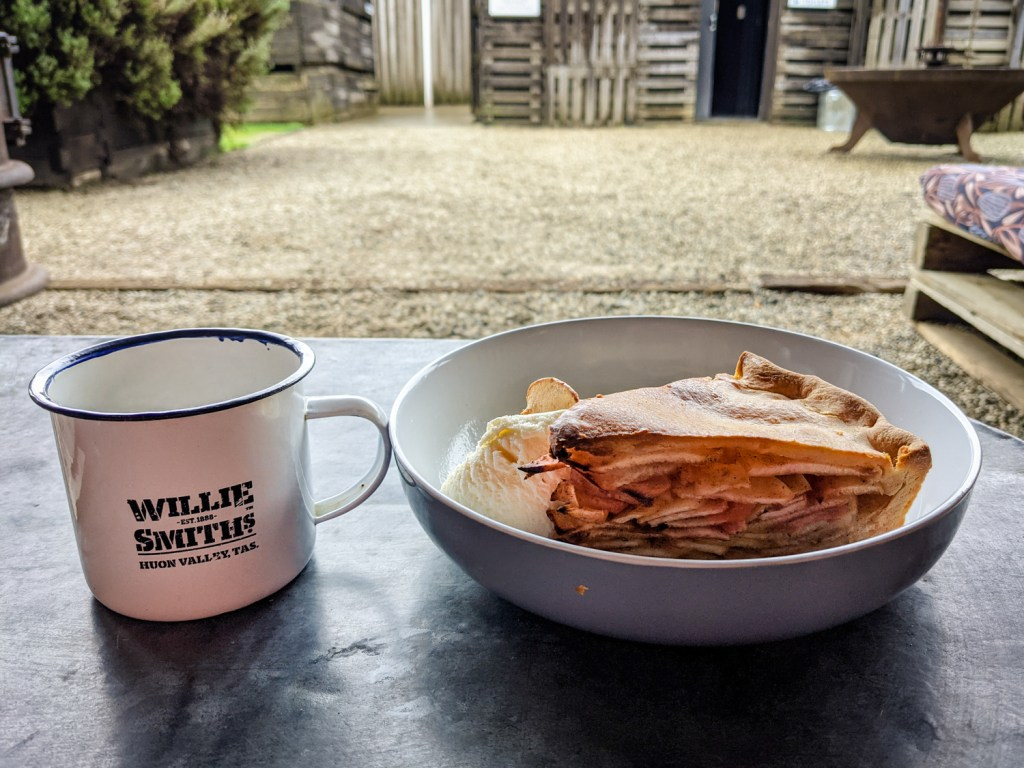 Apple pie and mulled cider at Willie Smith's Apple Shed, Huon Valley, Tasmania