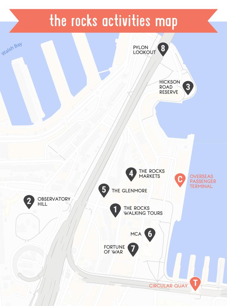 The Rocks activities map