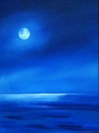 Moon Kissed 12 x 9 oil on board