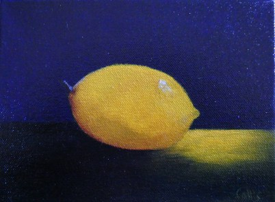 Lemon 6 x 8 oil