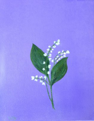 Lily of the Valley 10 x 8 oil