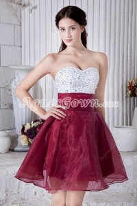 Maroon and White Sweet 16 Dresses  fashion dresses