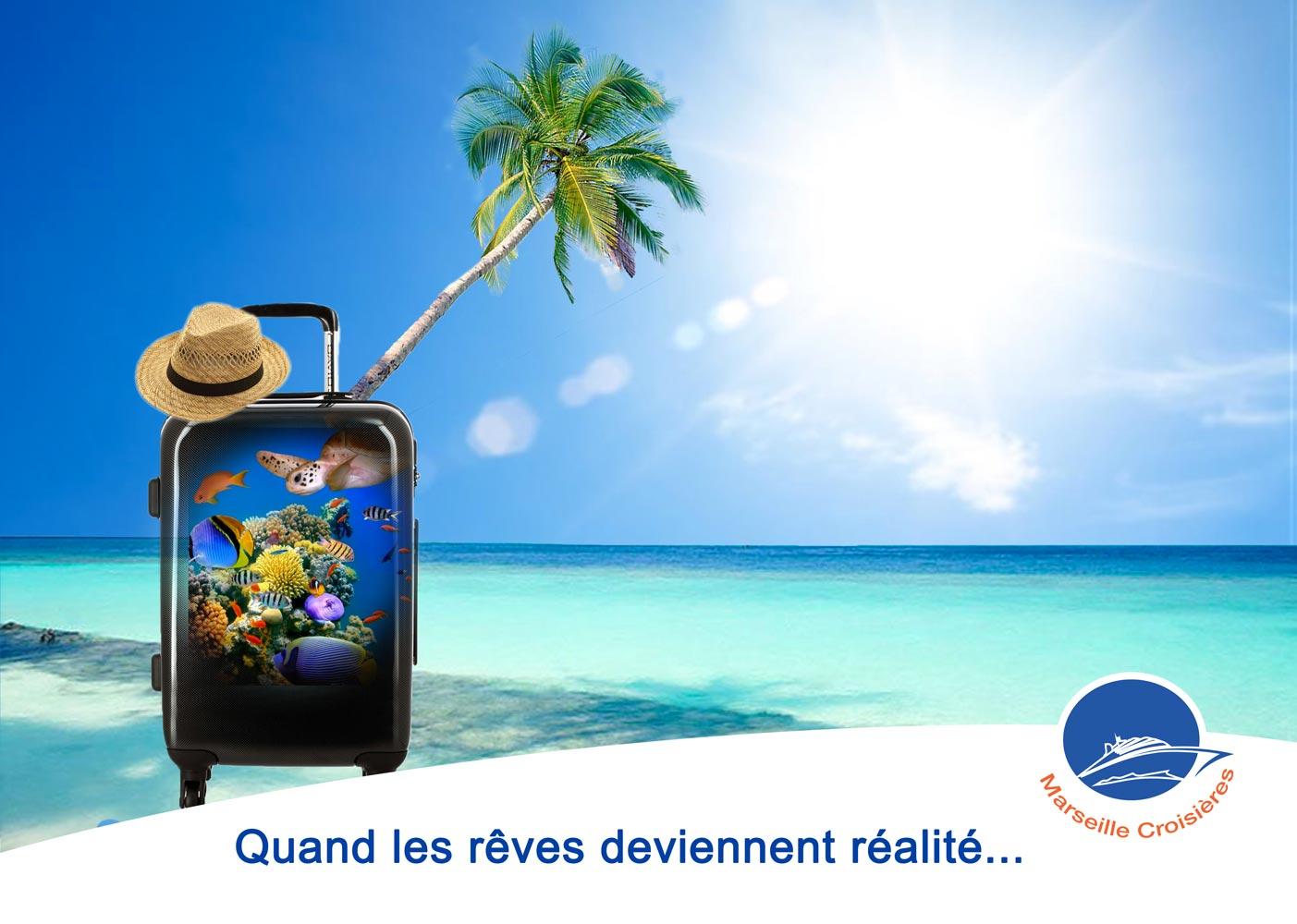 Publicité pour une agence de voyage