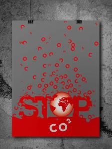 Présentation de l'affiche de sensibilisation sur les effets néfastes du CO2 sur notre planète