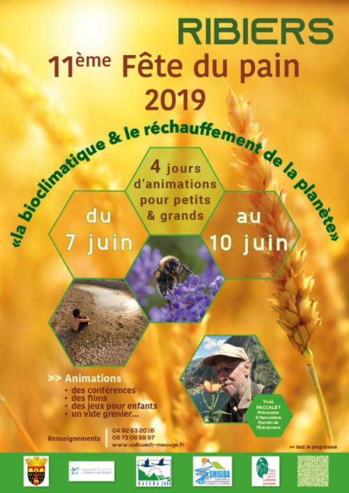 affiche réalisée pour la mairie de Ribiers à l'occasion de la fête du pain du 7 juin