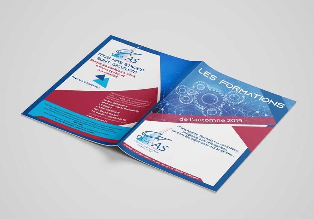 Brochure Formations réalisée pour l'Organisme de Gestion Agréé de Sisteron - format A5 - vingtaine de pages