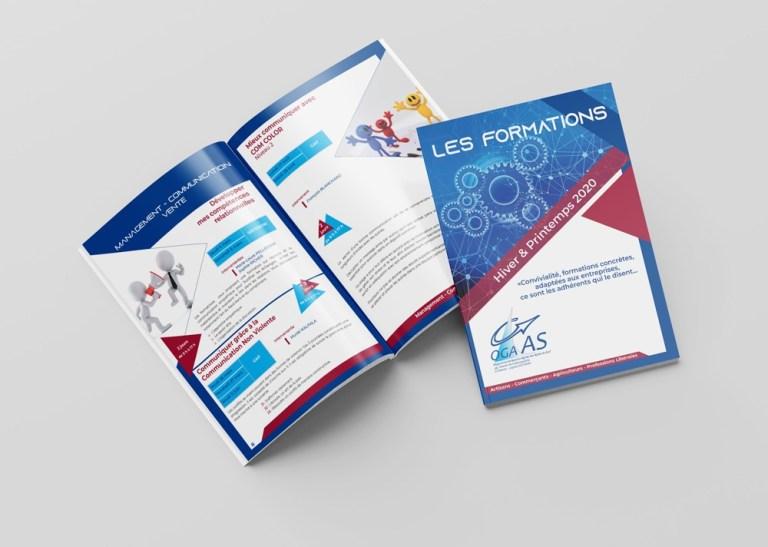 Brochure Formations Hiver Printemps 2020 réalisé pour OGA