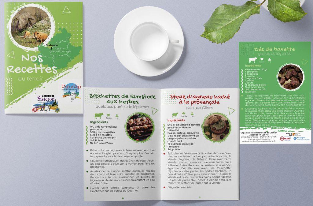 Livret de recettes réalisé pour l'Association César à Sisteron