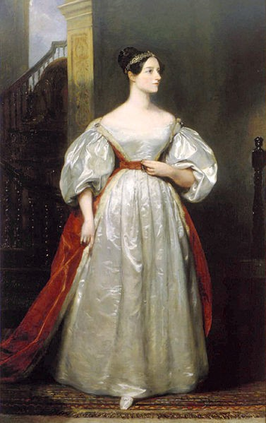 Ada Byronb Lovelace in garb of her time