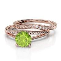 Peridot Bridal Set Rings