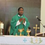 "Homily by Very Rev. Fr. John Louis themed ""to God and Caesar"""