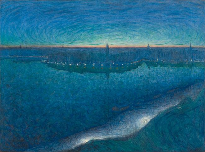 Eugène Jansson mystical landscapes ago