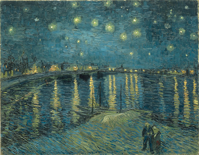 Vincent Van Gogh, The Starry Night over the Rhone at Arles, 1888