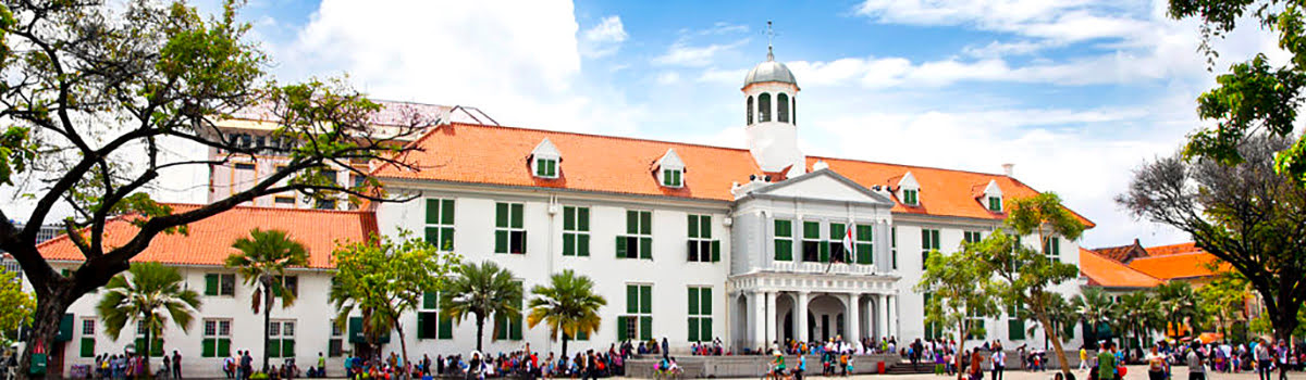 Facade of National Museum in Merdeka Square in Jakarta, Indonesia