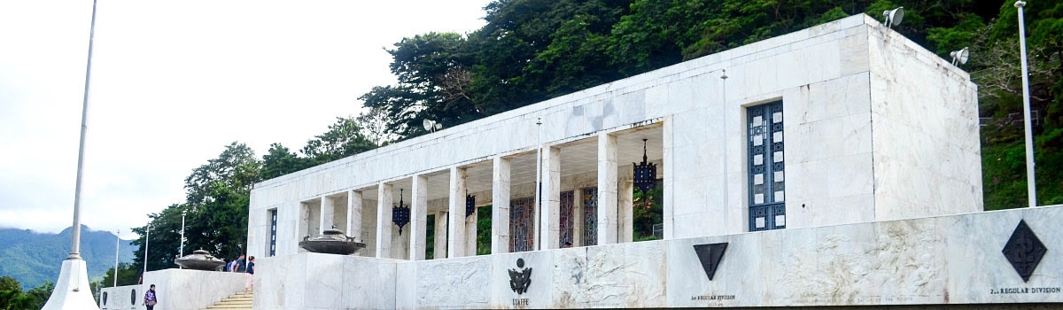 Front entry gate to Mount Samat in Philippines