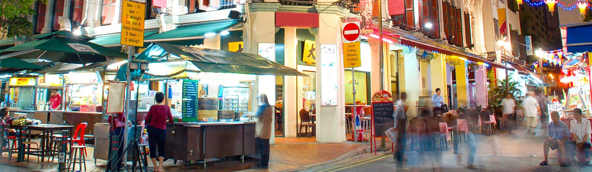 Featured photo of night scene in Singapore