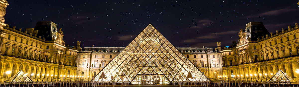 Louvre Museum-Paris-France-Featured photo-night view