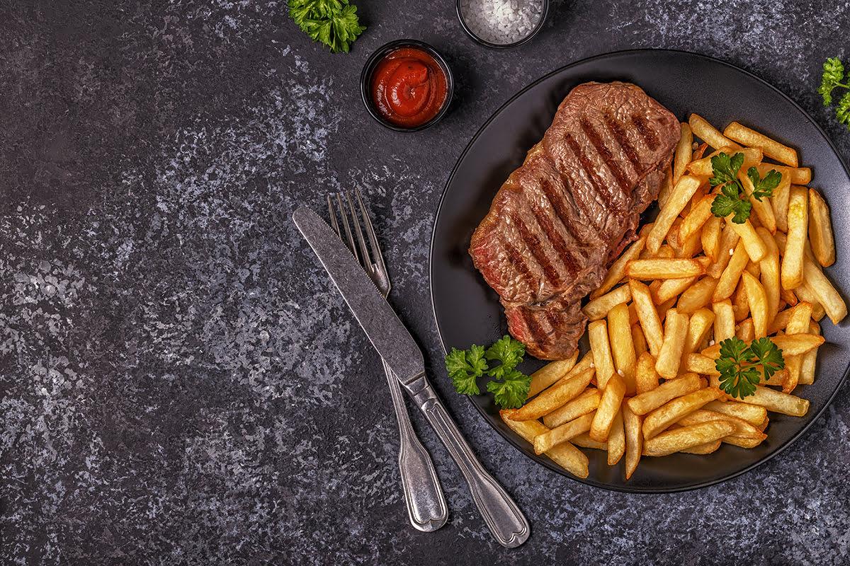 Paris food-Steak and fries