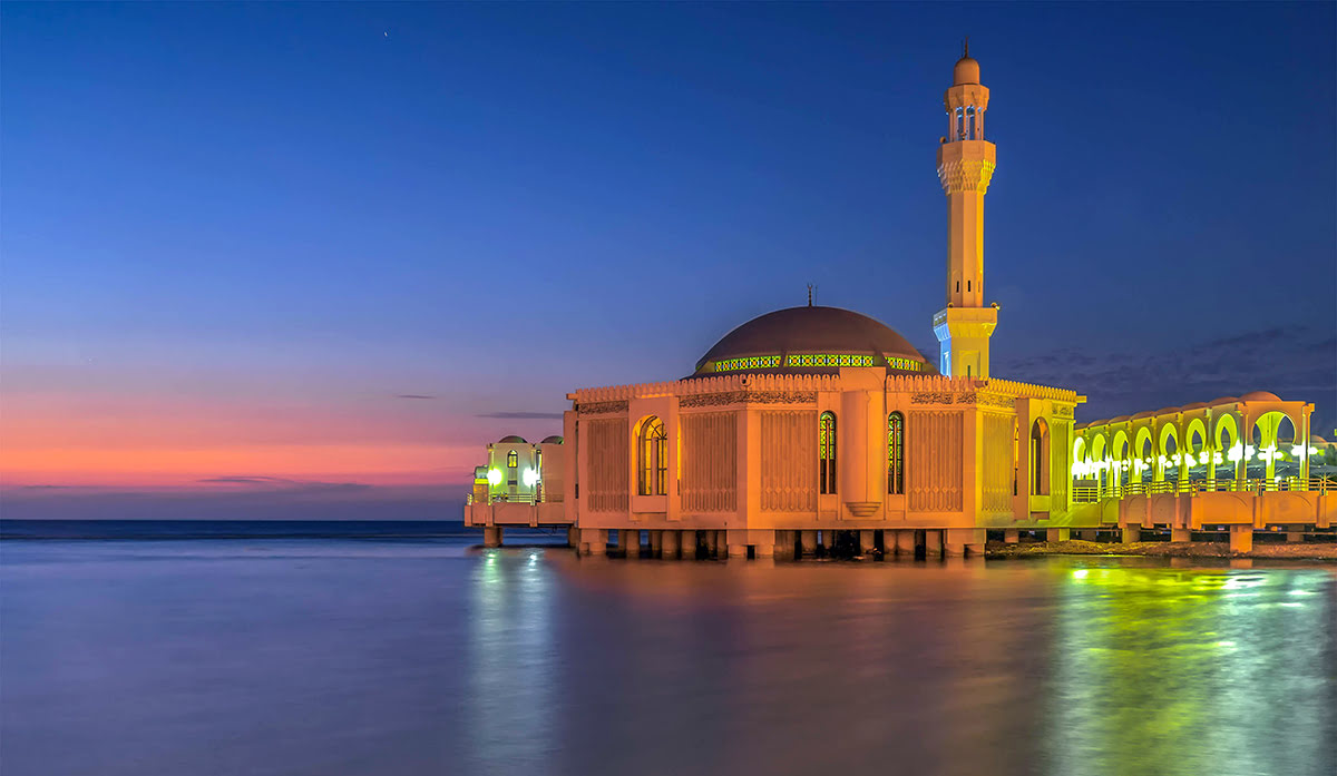 吉達遊玩-沙烏地阿拉伯-水上清真寺