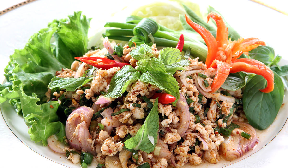 Things to do in Luang Prabang-Laos-cuisine-food-laab-larb