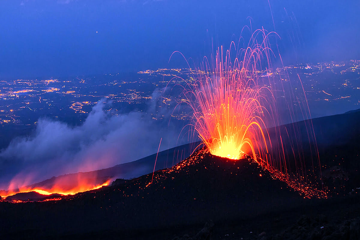 Things to do in Sicily-Italy-Mount Etna-night-lava