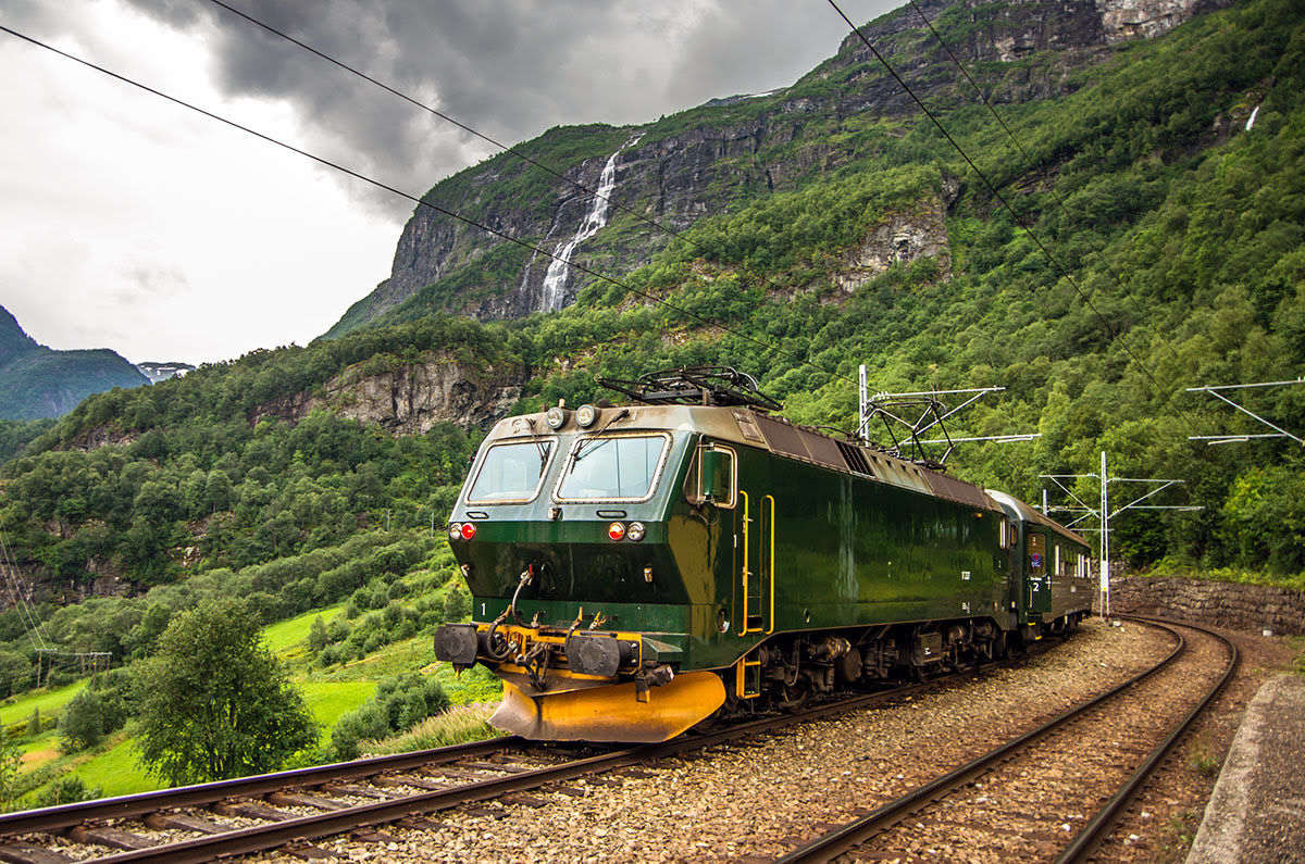 Earth Day 2020-eco-friendly vacations-train trips across Europe-Bergen and Flåm Railways-Norway