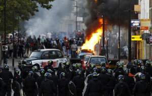 the riots in the UK are not an accident - Satan hates the Training, where the dispensational instrument is produced! [picture: the recent London Riots, August 2011, via IBtimes]
