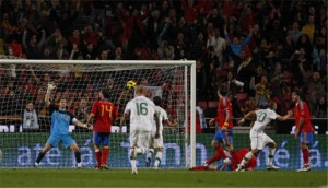 Truth is the divine light shining on the facts of the Bible and televising a heavenly vision in us [picture: a GOAL in the football game - seen from BEING at the game]
