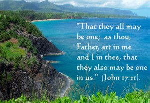 the believers are being made one in the divine glory for God's expression