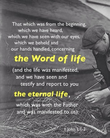 The Ministry of the Apostle John was a Ministry of Mending (see 1 John 1 :1-2)