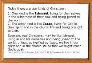 There are Two Sources issuing in Two Kinds of Living in our Christian Life