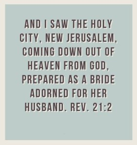 Only God is NEW; God Wrought into us Makes us NEW until We're Becoming NEW Jerusalem