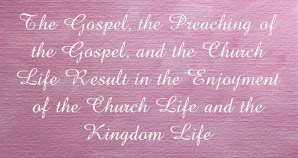 Jacob's Prophesying with Blessing Concerning Issachar potrays the Church Life Today