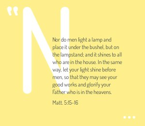 We Need to be Holy Persons Filled with God to Light the Holy Lamps in the Holy Place