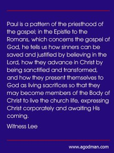 Being Laboring Priests of the Gospel Offering Saved Sinners to God for His Delight