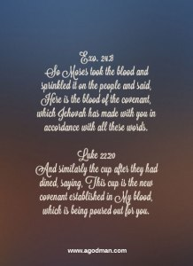 Having a Deeper Appreciation for the Blood of Christ, the Blood of the Covenant