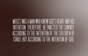 A Basic Principle in God's Economy as seen in Moses' Enacting the Law as a Covenant