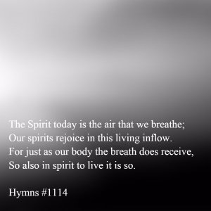 Christ became the Spirit to Breathe Himself into us: Receive the Holy Breath!