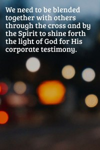Paying the Price to Gain More God in His Divine Nature and being Blended Together