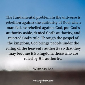 Being Brought under the Ruling of God's Authority through the Gospel of the Kingdom