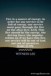 Every Service to God must be Based on the Fire from the Altar of Burnt Offering