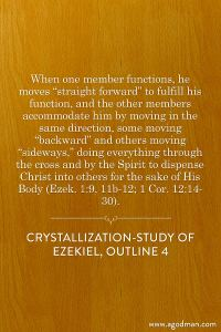 Functioning in Coordination and doing Everything through the Cross and by the Spirit