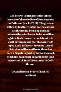 God's Intention is to Work on Man to Bring man to the Throne and Deal with Satan