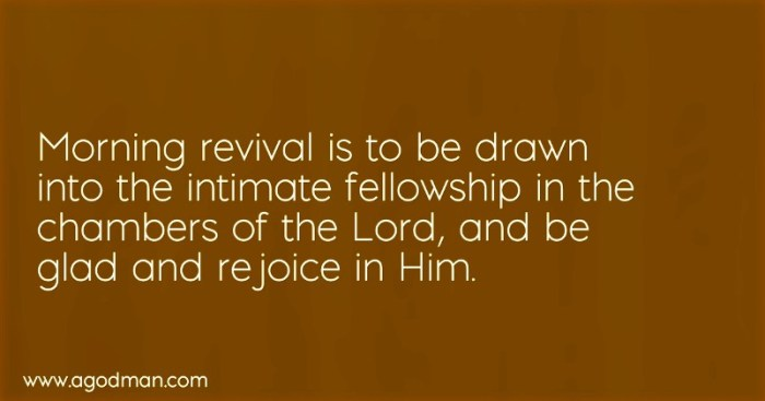 Morning revival is to be drawn into the intimate fellowship in the chambers of the Lord, and be glad and rejoice in Him.