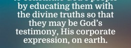In the Lord's recovery today, we need Ezras to do a purifying work and to constitute God's people by educating them with the divine truths so that they may be God's testimony, His corporate expression, on earth. The Recovery of the Church (2017 fall ITERO), outline 4