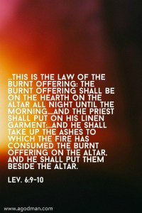 Being a Continual Burnt Offering to be Reduced to Ashes and become the New Jerusalem!